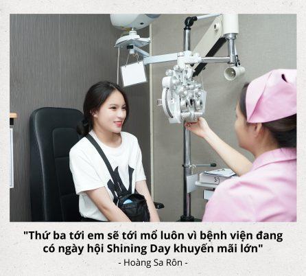 hotteen, Hoàng sa rôn. Bệnh viện DND, mổ mắt, chữa cận thị